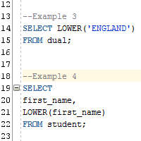 Oracle UPPER and LOWER Function
