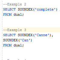 Oracle SOUNDEX Function