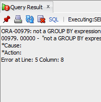 ORA-00979 Error