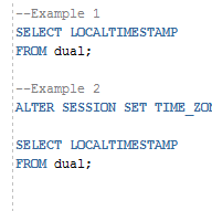Oracle LOCALTIMESTAMP Function with Examples