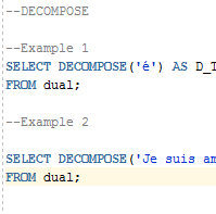 Oracle DECOMPOSE Function with Examples