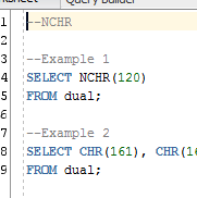 Oracle CHR, ASCII, NCHR, and ASCIISTR Function Guide, FAQ, and Example