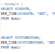 Oracle NEW_TIME Function with Examples