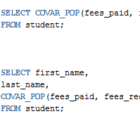 Oracle COVAR_POP Function with Examples