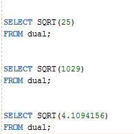 Oracle SQRT Function with Examples