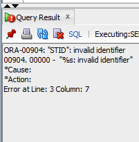 ORA-00904 invalid identifier Solution