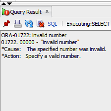 ORA-01722 invalid number Solution