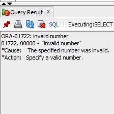 ORA-01722 invalid number Solution