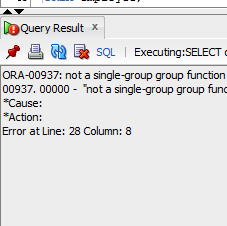 ORA-00937: not a single-group group function Solution