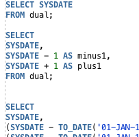 Oracle SYSDATE