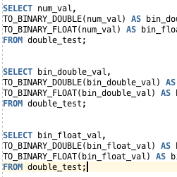 Oracle TO_BINARY_DOUBLE and TO_BINARY_FLOAT Functions