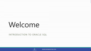 Introduction to Oracle SQL Course