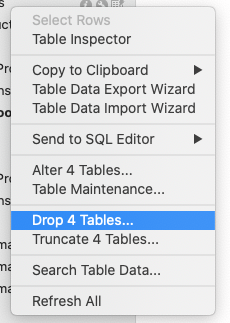 drop table