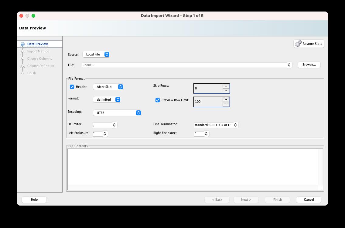 sql developer import 03